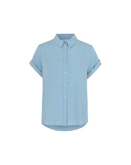 Samsøe & Samsøe Camisa Majan SS Shirt - Dusty Blue