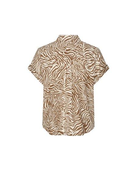 Samsøe & Samsøe Camisa Majan SS Shirt - Mountain Zebra