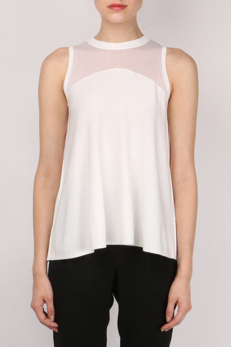 Jonathan Simkhai Pleated Knit Tank