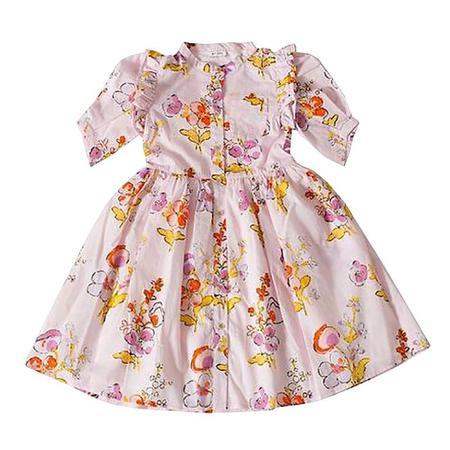 Kids Morley Nicky Dress - Apple Blossom Print Rose Pink