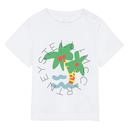 Kids Stella McCartney T-shirt With Palm Print - White