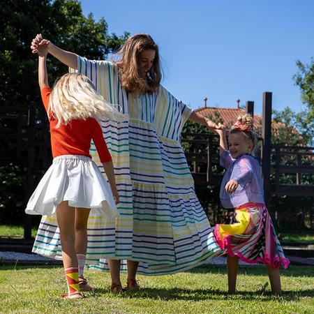 Tia Cibani Kids Woman Zsofia Peasant Kaftan Dress