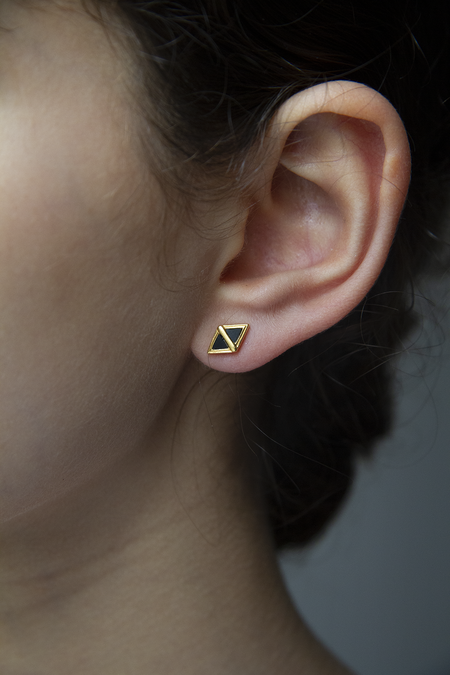 Sierra Winter Jewelry Scout Earrings - Gold/Onyx