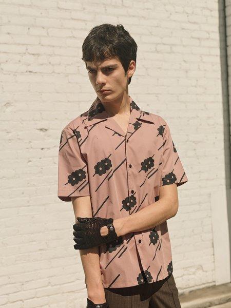 Ernest W. Baker Floral Print Bowling Shirt - Pink/Black