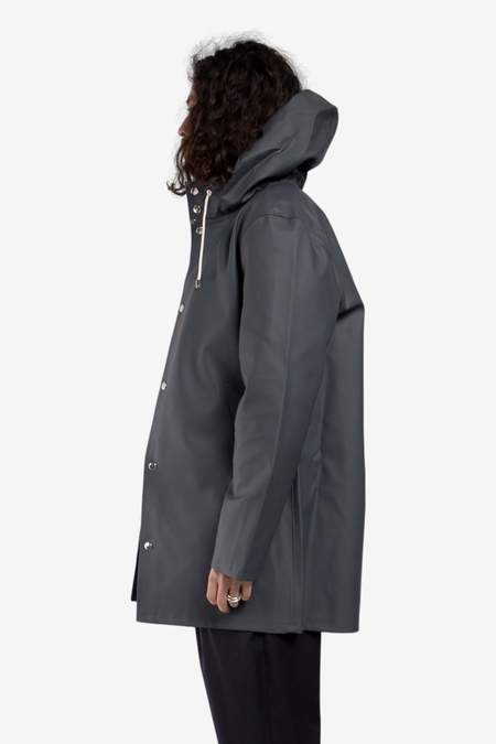 Stutterheim Stockholm Raincoat - Charcoal