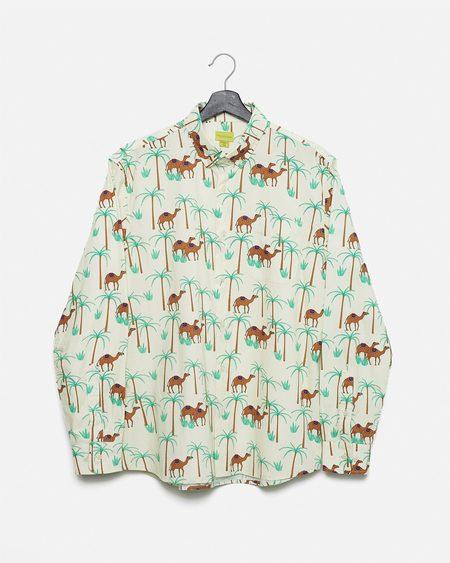 Poplin & Co. Camel Ride Button Down Long Sleeve Shirt
