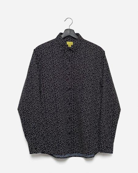 Poplin & Co. Casual Button Down Long Sleeve Shirt - Squiggles Print