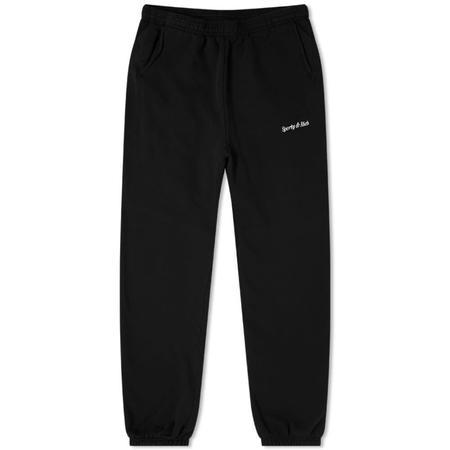 Sporty & Rich Classic Logo Sweatpant - Black