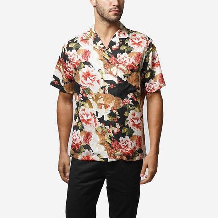 Portuguese Flannel Harmonia Short-Sleeve Vacation Shirt - Black Floral