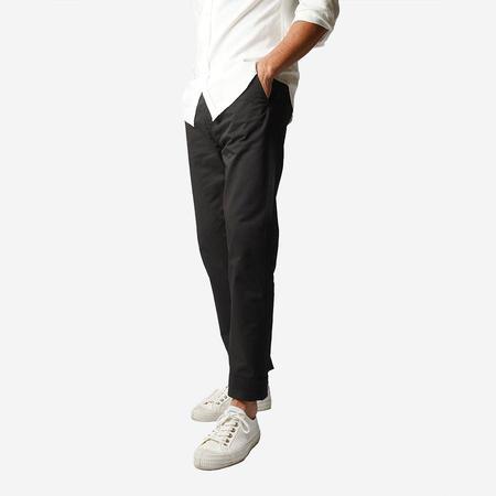 Portuguese Flannel Labura Tapered Trousers - Black