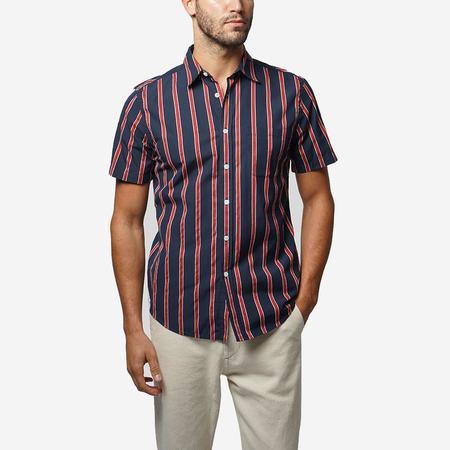 Portuguese Flannel Monaco Short-Sleeve Shirt - Red/Navy