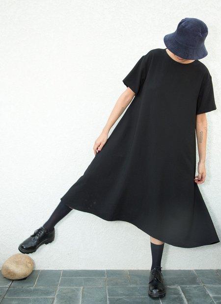 KAAREM Mud Short Sleeve Tent Midi Dress - Black