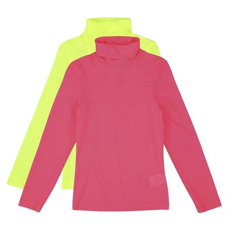 kids Caroline Bosmans Child Mesh Neon Turtleneck Top