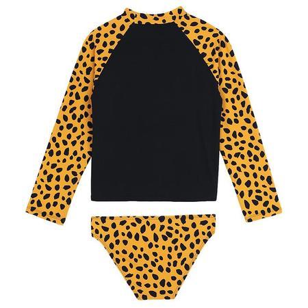 Kids Stella McCartney Swim Set With Cheetah Print - Black