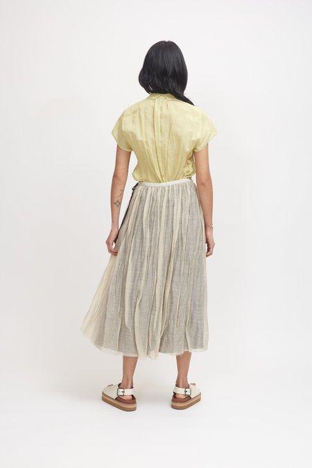 Pas de Calais Ramie and Cupro Skirt - Beige