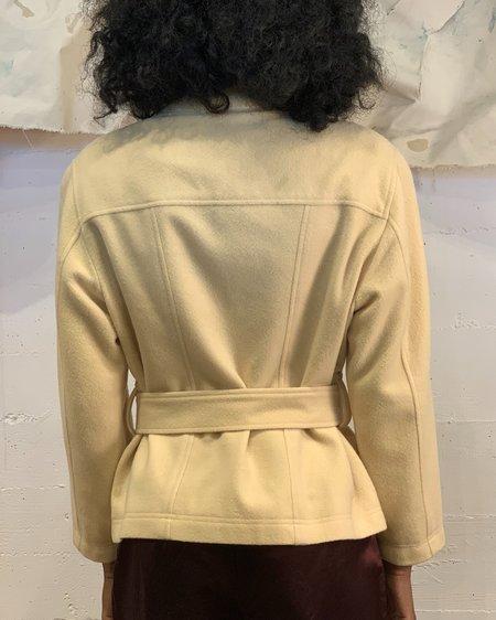 Vintage Belted Jacket - Butter