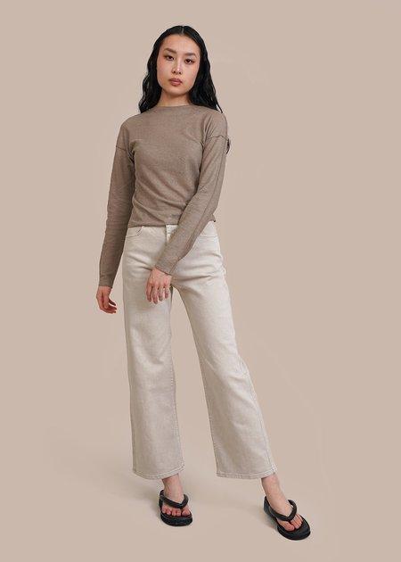 AMOMENTO Linen T-Shirt - Khaki