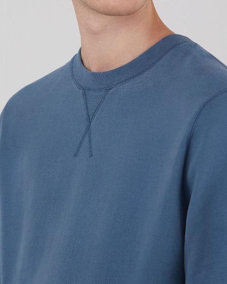 Sunspel Cotton loopback sweatshirt - smoke blue