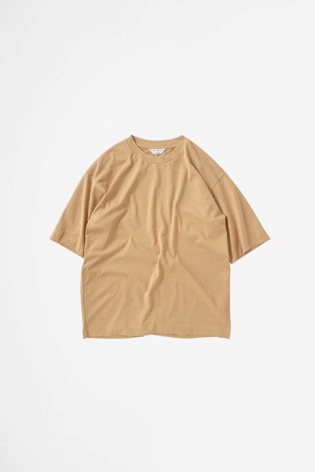 Still By Hand Yoke seam t-shirt - yellow/beige
