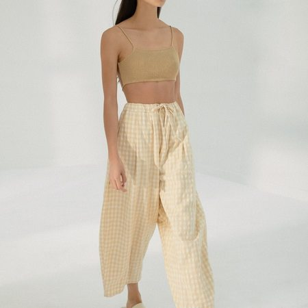 Mónica Cordera Knit Linen Top - Ambar