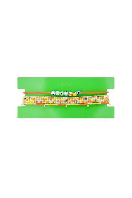 tai Set of 3 Beaded Bracelet - Yellow