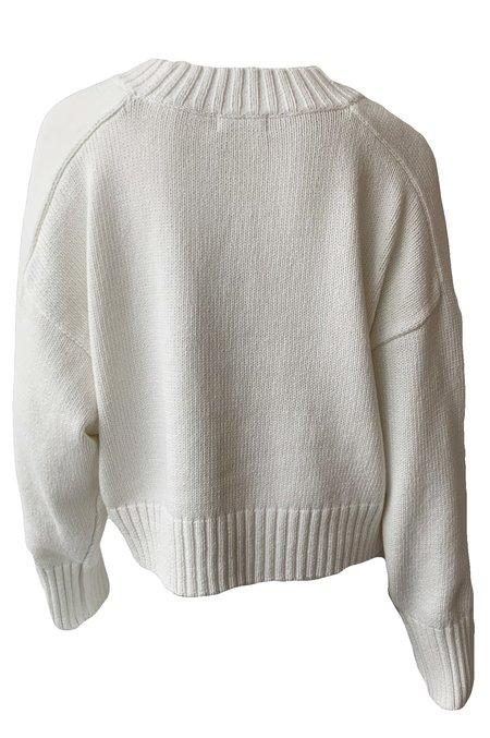 St. Agni Eero Knit Pullover - White