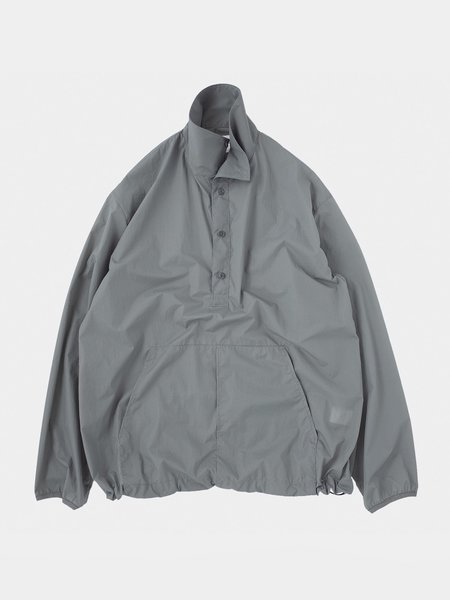 Still By Hand Packable Anorak - Blue Grey