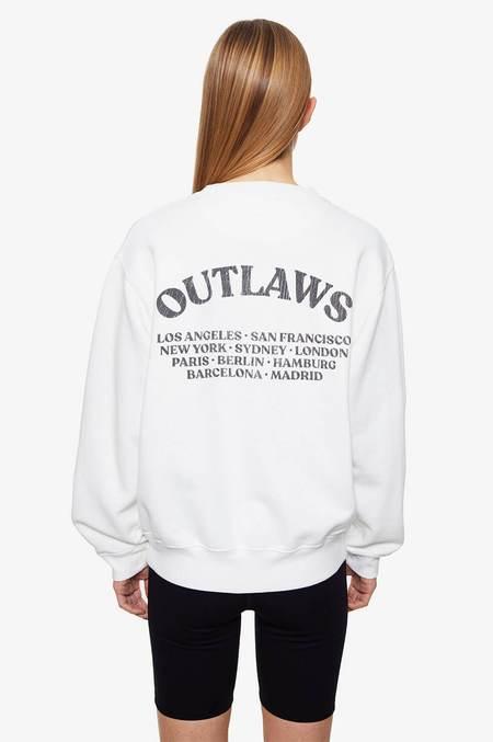 Anine Bing Ramona Sweatshirt - Outlaws-White