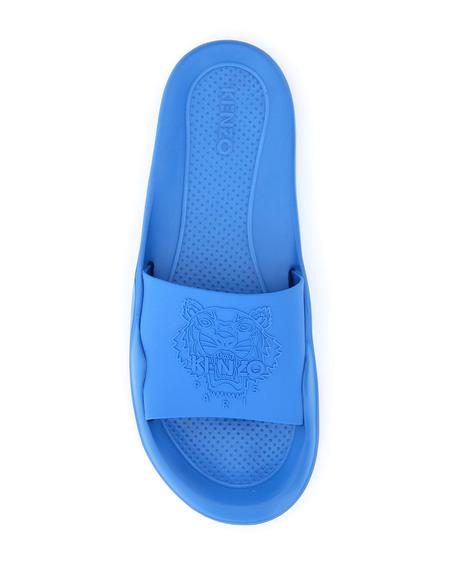 Kenzo Tiger Head Logo Slides - Blue