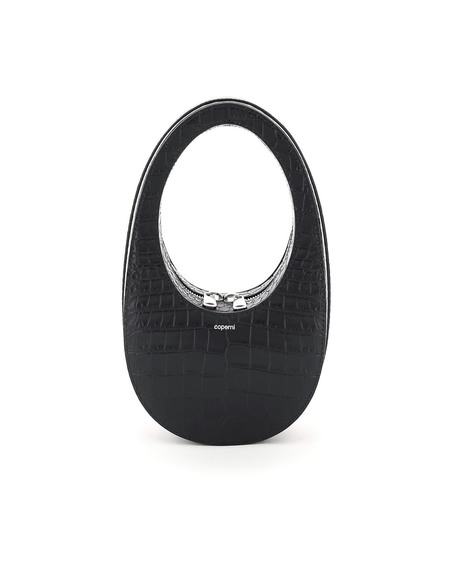 Coperni Swipe Croc Leather Mini Bag - Black