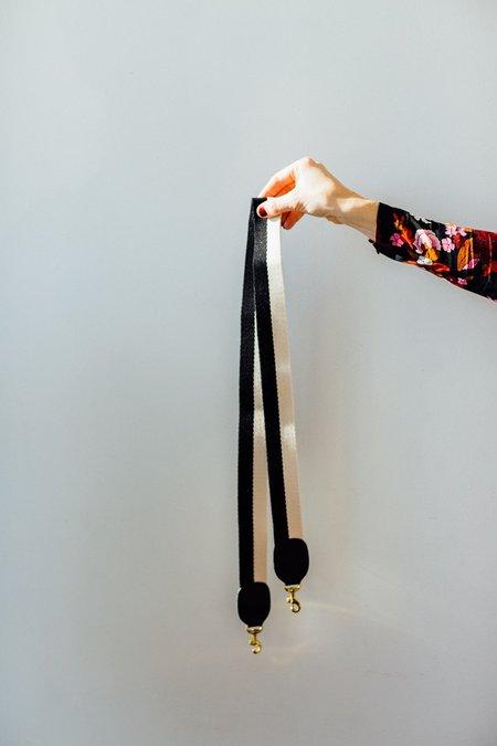 Clare V. Detachable Strap - Black/White