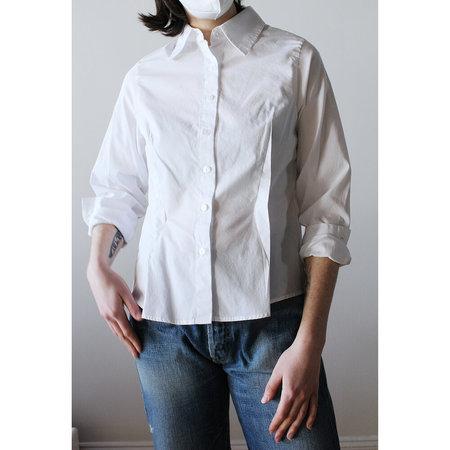 Toit Volant Outside Dart Button Shirt - Snow White