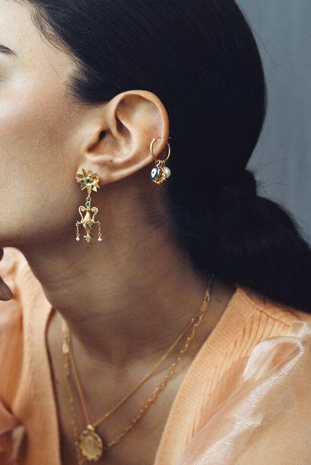 Cleopatra's Bling Seianti earrings - gold