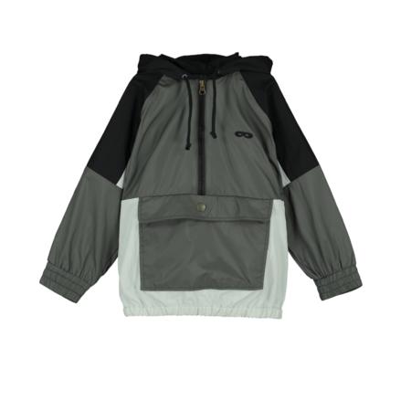 kids Beau Loves Block Colored Tech Shell Jacket - Gray/Black