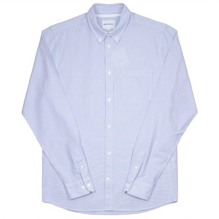 Norse Projects Anton Oxford Shirt - Pale Blue Stripe