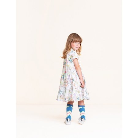 Kids oilily castle in the cloud dress - bright white