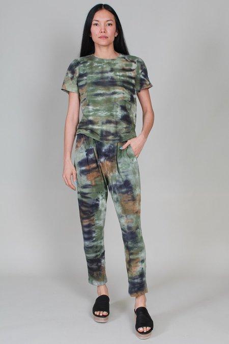 Raquel Allegra Easy Pant - Army Camo Tie Dye