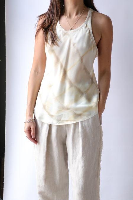 Raquel Allegra Bias Tank - Shibori Squares