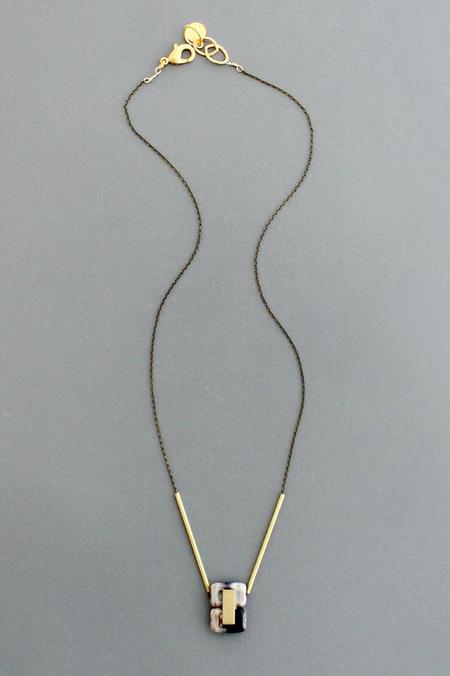 Double Czech Glass Pendant Necklace