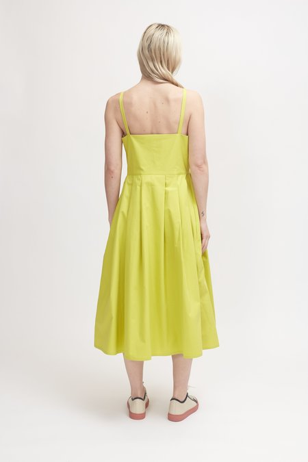 Sofie D'Hoore Dauphine Cotton Twill Dress - Anise
