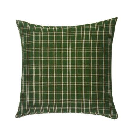 Archive New York Chiapas Plaid Pillow - Forest Green