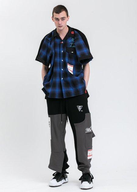 Mihara Yasuhiro T-Bowling Shirt - Blue/Back