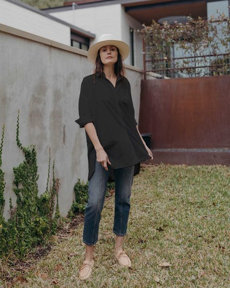 Esby SARA TOP - WASHED BLACK
