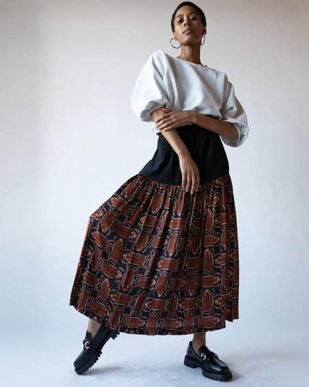 Rachel Comey Hanlon Skirt - Black Print
