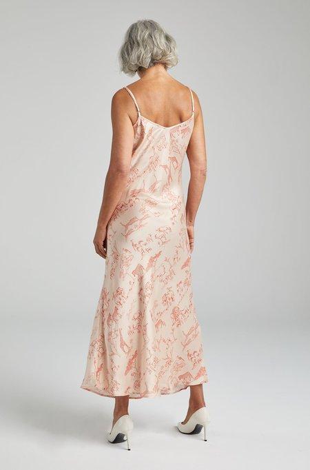 Silk Laundry 90S SILK SLIP DRESS - SERENGETI