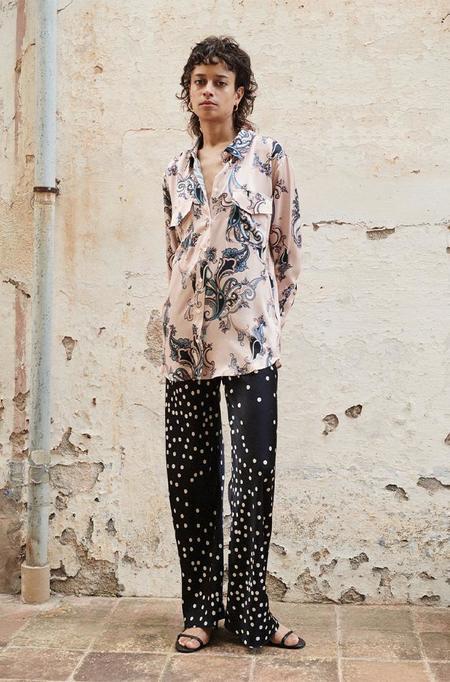 Silk Laundry BOYFRIEND SHIRT - PINK PAISLEY
