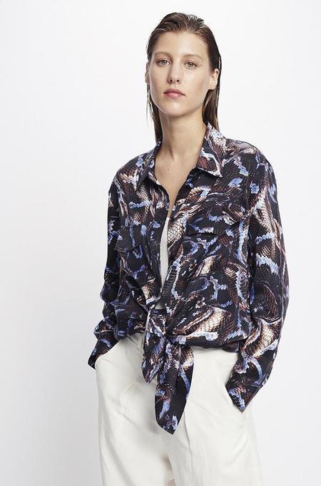 Silk Laundry BOYFRIEND SHIRT - SNAKE