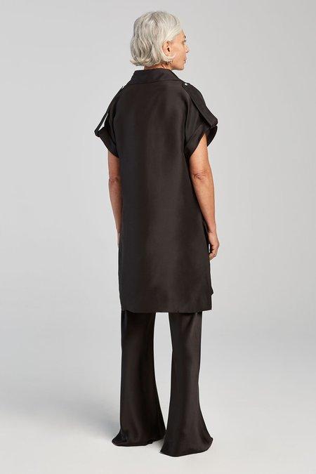 Silk Laundry DROP SHOULDER 60S DRESS - BLACK