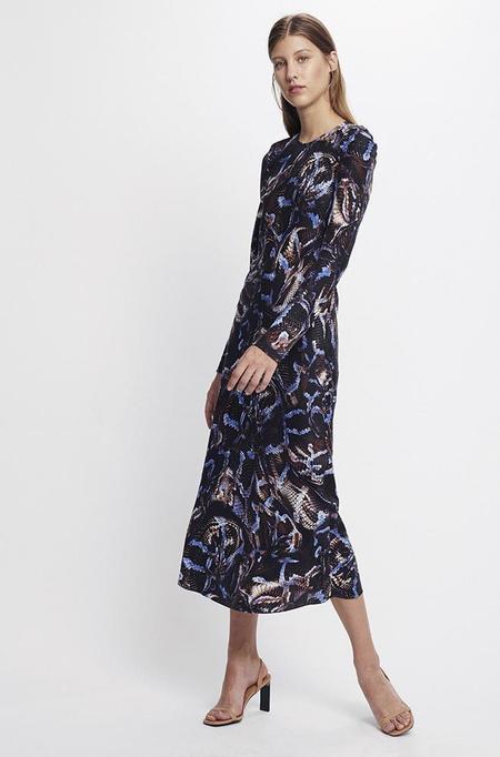Silk Laundry FULL SLEEVE BIAS CUT - DRESS SNAKE