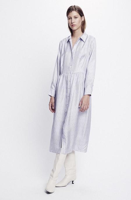 Silk Laundry LONG BUTTON FRONT SHIRT - DRESS LILAC LOGO